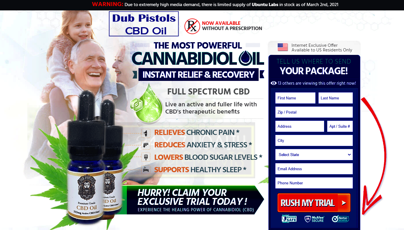 {SHOCKING EFFECTS} Dub Pistols CBD Oil {UK}- Reviews, Price & {Is Really Work Or Scam? | 24 X 7 Health Supplements